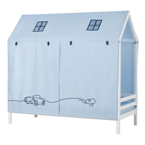 House bed with car curtain