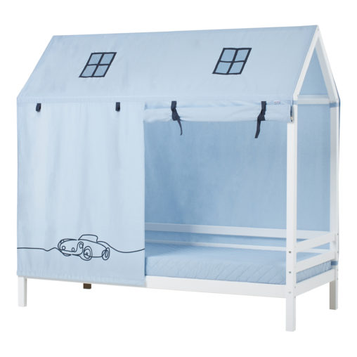 House bed with curtain